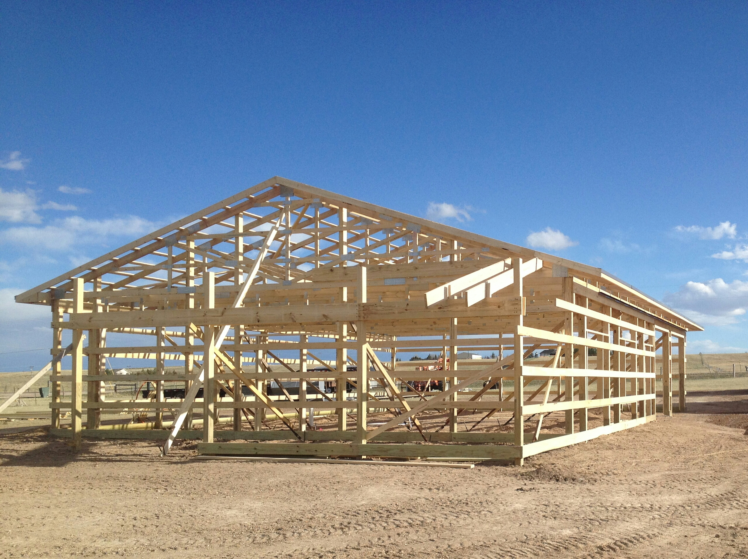 x big open and smith enclosed barns built pole barn shelter metal fully dsc