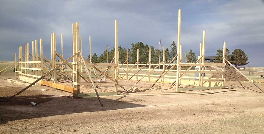 New 40x60 shop polebarn being erected duramacks structures for 40x60 pole building