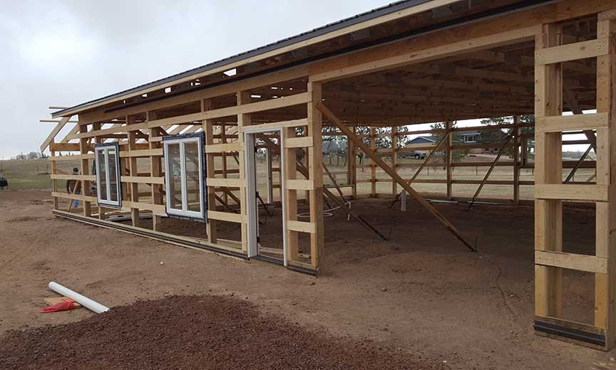New 40x60 Shop Polebarn Being Erected Duramacks Structures