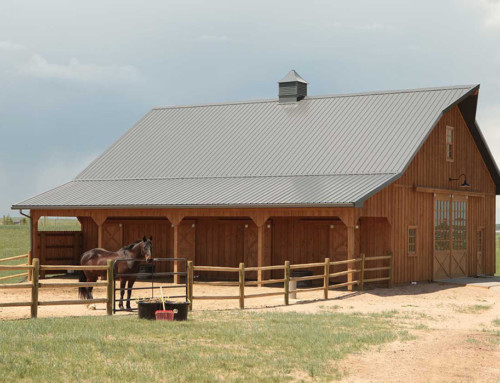 Custom Built Horse Barn in Cheyenne WY