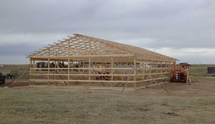 New 40x60 shop polebarn being erected duramacks structures for 40x60 shop package